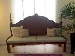 Mueble Tipo Banca De Cedro Estilo Marroquí