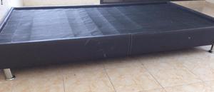 Base cama individual vinipiel $600 usada en Fracc las