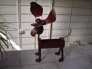 Macetero en forma de perro de metal!!!