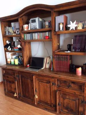 Mueble de madera tipo rústico multifuncional