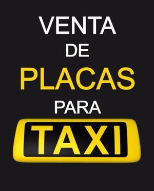 Venta de Placas de Taxi para Puebla