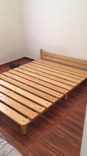 Base para cama queen de madera con cajones posot class for Base para cama queen size con cajones