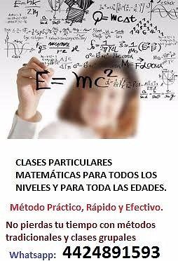 Clases Particulares de Matemáticas en San Luis Potosí