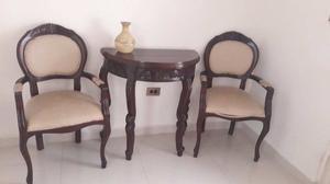 Juego de mesa y 2 sillas madera tipo teka modelo posot class for Juego de mesa y sillas