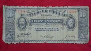 Billete Antiguo 10 Pesos Epoca de la Revolucion