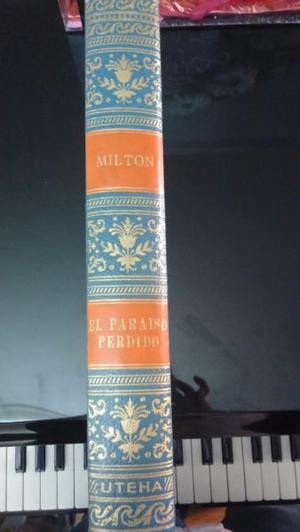 Libro Antiguo El Paraiso Perdido de Milton de Coleccion