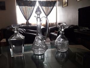 Licoreras de cristal de plomo...originales