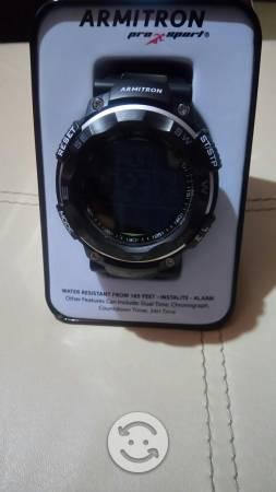 Reloj 50 mm armitron nuevo caja 100 mtrs bajo agua
