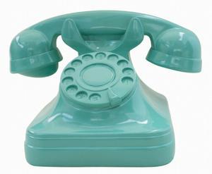 Teléfono Antiguo Verde (adorno)
