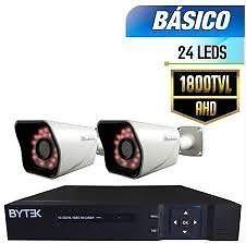 instalación de cámaras de seguridad de las marcas baytek,