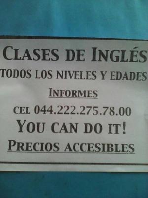 CLASES DE INGLÉS Todos los niveles y edades