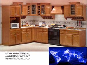COCINA INTEGRAL MOD. VALENCIA MADERA 2.40 MTS. 5 PZAS. COLOR