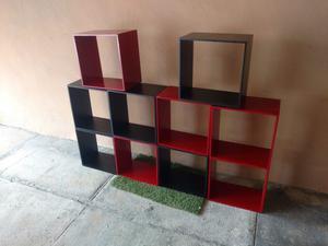 Repisas cubos de madera