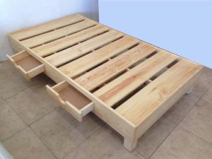 Cama con base de madera nueva y colchon Spring Air