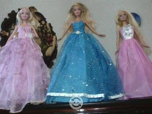 Lote de 3 vestidos para barbie
