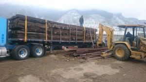 Durmientes de madera nuevo y usado y material ferroviario