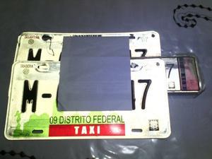 venta de placas para taxi en d.f.