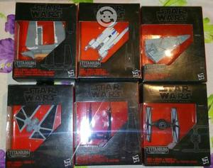 NAVES STAR WARS BLACK SERIES TITANIUM. 6 modelos