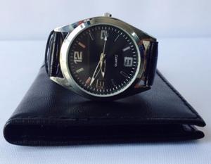 Reloj Casual Cuero Acero Inoxidable Pulsera Cuarzo