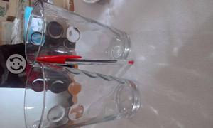 Vasos de cristal grandes de lunas (40 pzas)