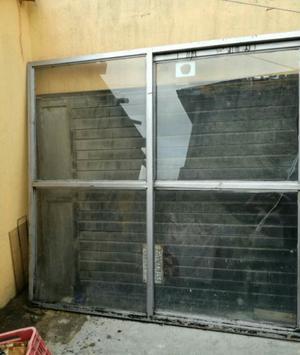 vendo ventana con puerta corrediza