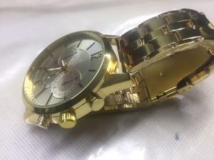 Reloj casual estilo vintage cuarzo acero dorado