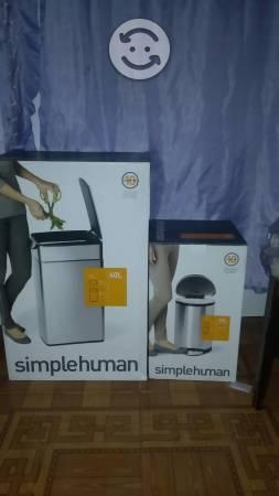 Bote de basura de 40L,10L simple human