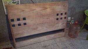 Cabecera matrimonial de madera