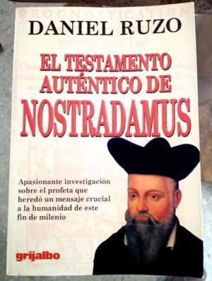 Libro El Testamento Auténtico de Nostradamus (Daniel Ruzo)