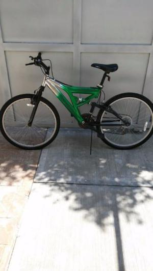 Bicicleta next verde/cromada rodada 26