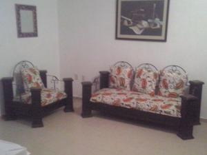 Cojines para salas de madera sillones posot class for Sillones de madera para sala