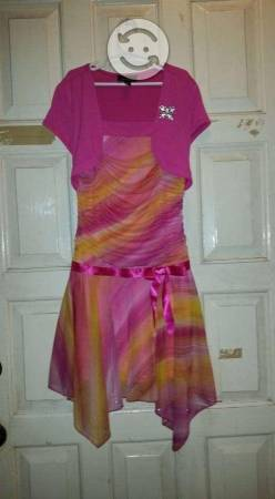 Vestido rosa de niña para fiesta talla 12