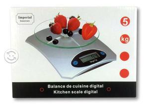Báscula Digital Gramera Cocina Vidrio 1gr A 5kg
