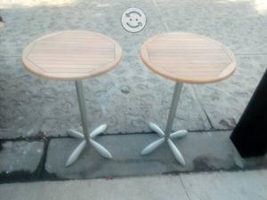 Juego de dos mesas periqueras modernas