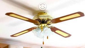 Ventilador de techo con 5 aspas y 4 lamparas posot class - Lamparas de techo con ventilador ...