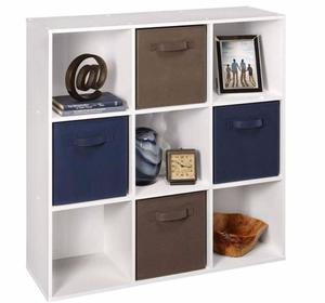 Estante Cubo Armario Closet Librero Organizador Blanco Cubo