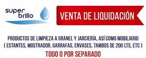 LIQUIDACION PRODUCTOS LIMPIEZA Y A GRANEL