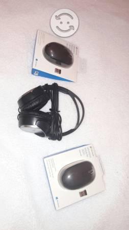 Audifonos y Mouse inalambrico