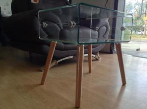 Mesa cristal madera Tuco