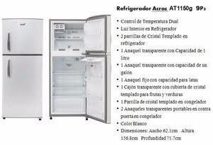 REMATO Refrigerador Nuevo Acros 9 pies cúbicos