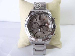 Reloj guess original,acero,cronografo, elegante e