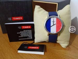 Reloj timex original,bandera francia,maquina japon