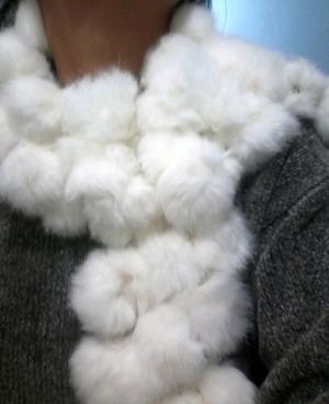 Bufanda de conejo