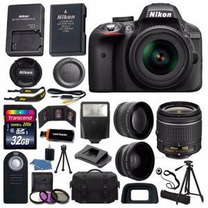 Cámara Nikon D + Lente mm + SD 32GB + Trípode +