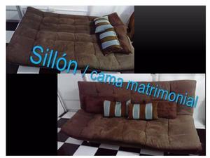 Sillon banca de madera con 4 cojines para sala posot class for Sillon cama de madera