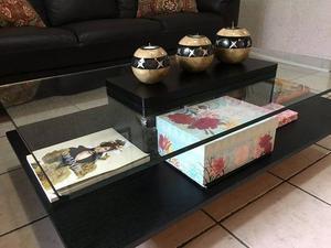 Elegante Mesa Para Centro De Sala C/ Cristal