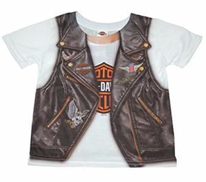 00df2d524 Playera camisa niño harley davidson estampado chaleco