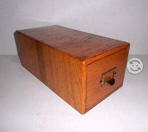 Fichero o tarjetero antiguo en madera posot class for Ficheros para oficina