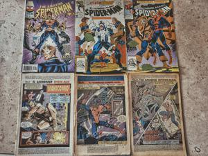 lote de 6 cómics de spider-man