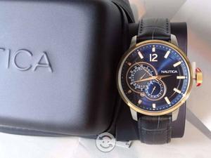 Reloj nautica,nuevo caratua tornasol,caja,fecha,i
